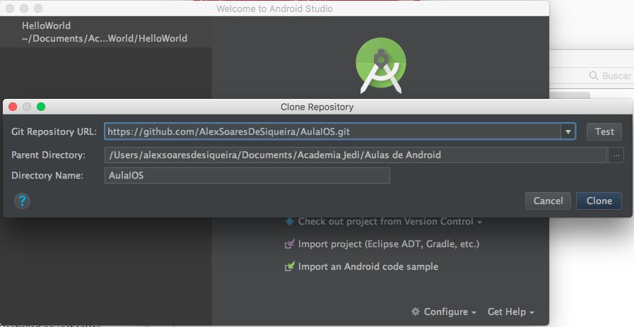 Utilizando o Github no Android Studio · Android Developer